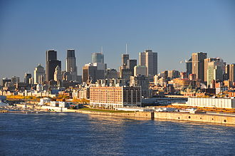 Greater Montreal - Image: Montreal skyline 2011