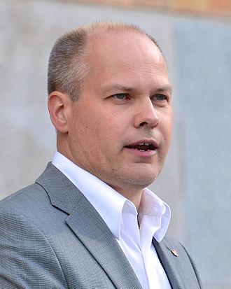 Minister for Justice (Sweden) - Image: Morgan Johansson i GAPF manifestation 2014