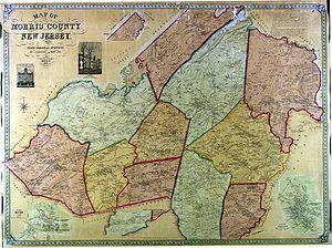 English: Morris County (New Jersey) in 1853 It...