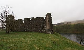 Morton Castle castle in Dumfries and Galloway, Scotland, UK