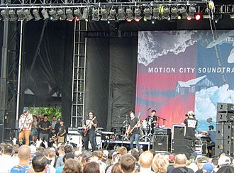 Motion City Soundtrack - Motion City playing their penultimate show at Riot Fest in 2016.