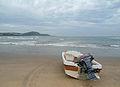 Motor boat at Rushikonda beach.JPG