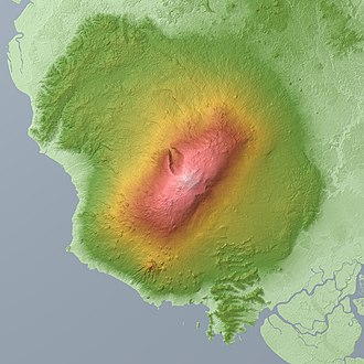 Mount Cameroon - Image: Mount Cameroon Relief Map, SRTM 1