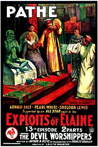Movie poster - The Exploits of Elaine - The Devil Worshippers (1914).jpg