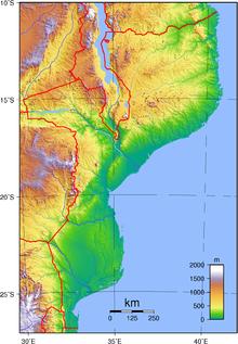 Topografia del Mozambico