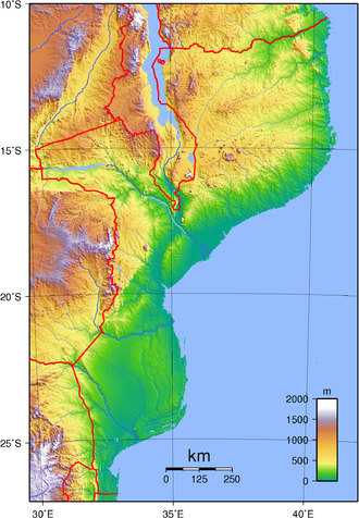 Geography of Mozambique - Mozambique's topography