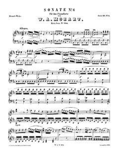 Image illustrative de l'article Sonate pour piano nº 6 de Mozart