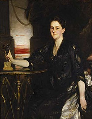 Peter Chardon Brooks - Mrs. Peter Chardon Brooks (née Sarah Lawrence), John Singer Sargent, 1890