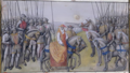 Ms 659 f.267 r. John II the Good taken prisoner by the English at the Battle of Poitiers, 1356.png