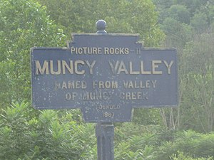 Muncy Valley, Pennsylvania - Image: Muncy Valley, PA Keystone Marker