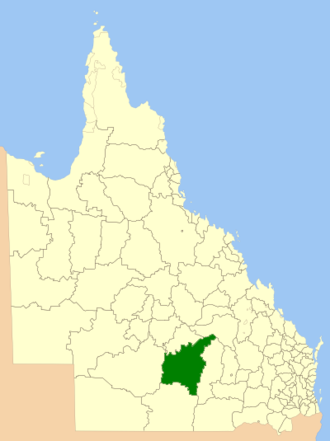 Shire of Murweh - Location within of the shire in Queensland