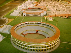 Roman Amphitheatre of Florence - Model of the Roman amphitheatre in the Florence Museum