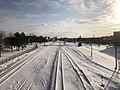 Muskogee snowstorm 2021-02-15 Callahan St Bridge N.jpg