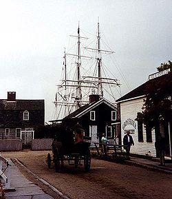 Vista de un puerto histórico de Connecticut.