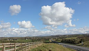 N78 road (Ireland) - The N78 looking east, Wicklow Mountains in the background. This new section joins Athy to the M9