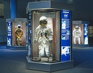 NASA Astronaut Corps - NASA space suits previously worn by the Astronaut Corps at the Johnson Space Center