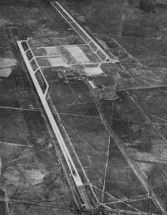 Naval Air Station Lemoore - Aerial view of NAS Lemoore in the early 1960s