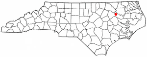 Hassell, North Carolina - Image: NC Map doton Hassell
