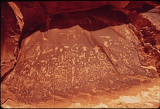 Newspaper Rock State Historic Monument - Newspaper Rock in 1972.