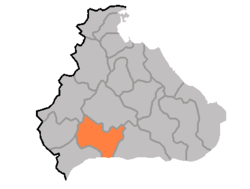 Location of P'yŏnggang County
