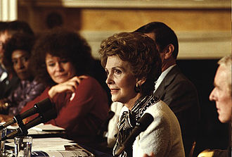 Just Say No - Nancy Reagan hosts the First Ladies Conference on Drug Abuse at the White House (1985).