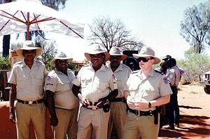 Northern Territory Police - N.T. Police, Mutitjulu community, Uluṟu-Kata Tjuṯa National Park (Ayers Rock). 1995