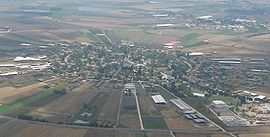 Aerial shot of Nahalal