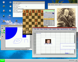 A screenshot of the Nanolinux desktop