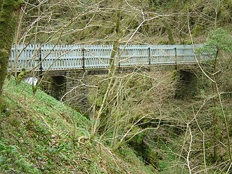 Talyllyn Railway - The footbridge across the Nant Gwernol