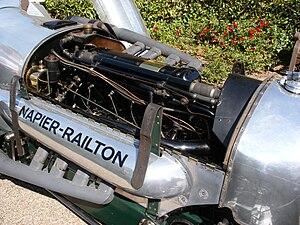Napier Lion - The Napier Lion installed in the Napier-Railton car