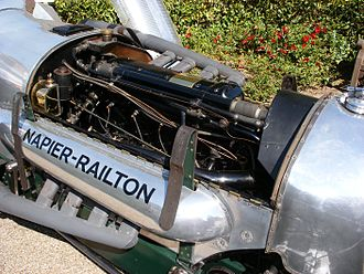 Napier Lion - The Napier Lion installed in the Napier-Railton car