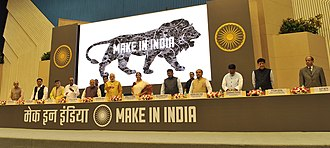 Premiership of Narendra Modi - Modi at the launch of the Make in India program.