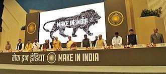 Premiership of Narendra Modi - Modi at the launch of the Make in India program.