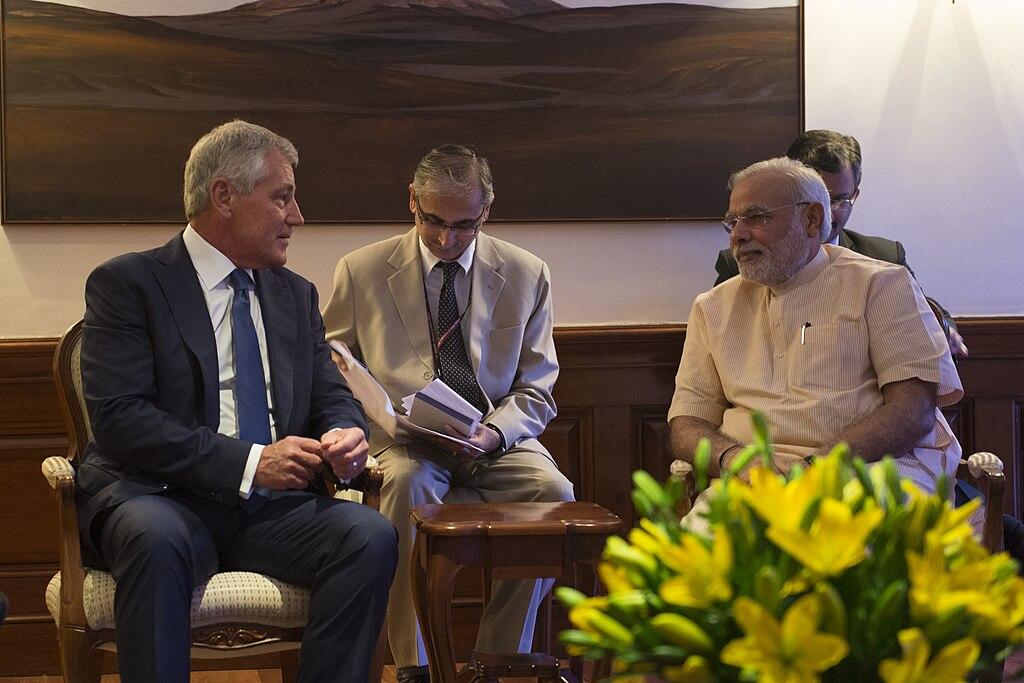 New delhi india aug 8 2014 secretary of defense chuck hagel