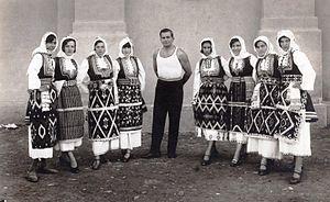 Dračevo, Skopje - National costume of Dracevo, Skopje, 1930's