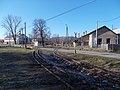 Narrow gauge railway, level crossing, depot, Road 12, 2020 Szob.jpg