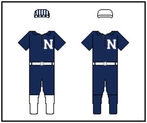 "Nashville Seraphs - Nashville's uniforms had a letter ""N"" on the chest."