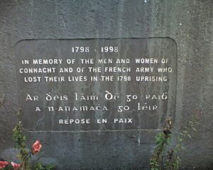 Battle of Killala - Memorial located at the main site of the Battle.