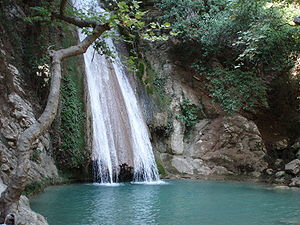 Neda (river) - Neda waterfalls