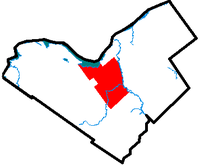 Map showing extent of Nepean within what is now the City of Ottawa c. 2000