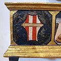 Neri di bicci, santa felicita e i suoi figli, 1464, stemma nerli sulla predella.JPG