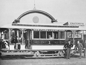 West End, Queensland - West End to New Farm tram, ca 1900