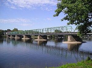 John Fulton Folinsbee - New Hope–Lambertville Bridge, from the New Jersey side.