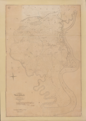 Tithe maps - An example of a complete tithe map. Parish of St. Woollos, Newport. 1845