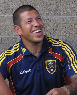 "Nick Rimando - Nick Rimando at a Real Salt Lake ""Meet the Players"" event in 2010"