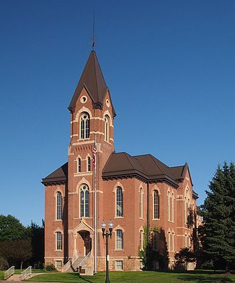 St. Peter, Minnesota - Nicollet County Courthouse in St. Peter