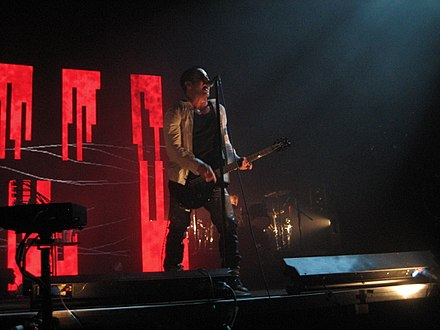 Live performance during the Live: With Teeth tour in 2006 Nine Inch Nails Moline 03.jpg