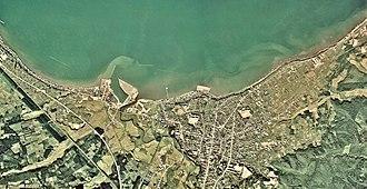 Noheji, Aomori - Noheji town center area Aerial photograph, 1975