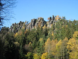 Zittau Mountains - The Nonnenfelsen (Nun's Rock) near Jonsdorf