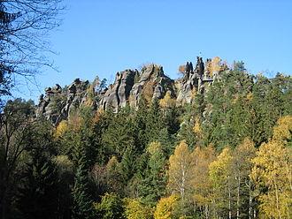 Zittau Mountains - The Nonnenfelsen (Nun's Rock) near Jonsdorf